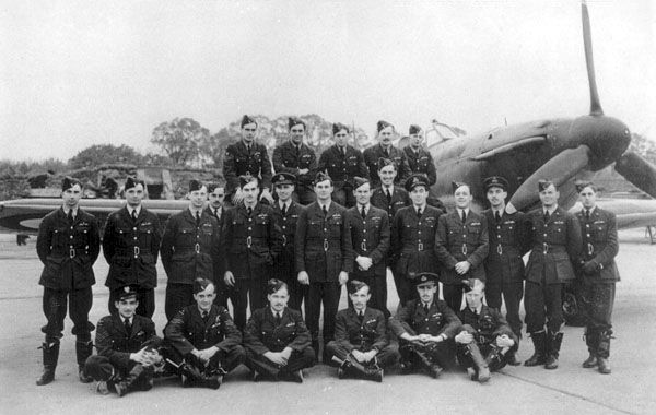 Fighter pilots of 501 Squadron RAF - Hurricane