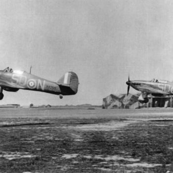 Hurricane fighters - Battle of Britain airfield - 501 Squadron